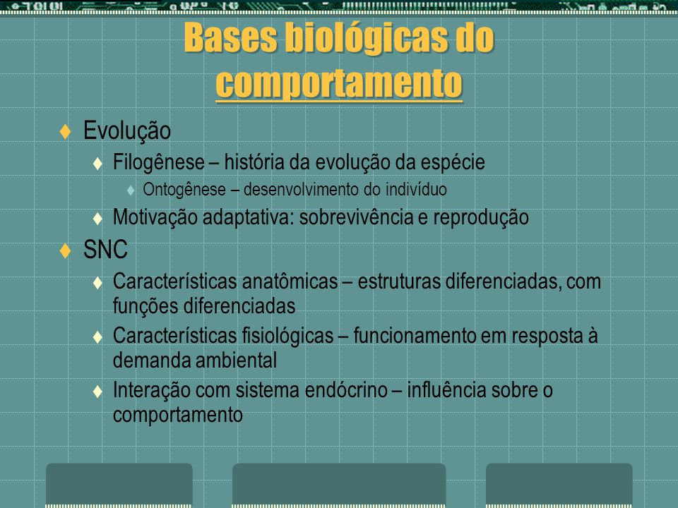 Bases biológicas do comportamento