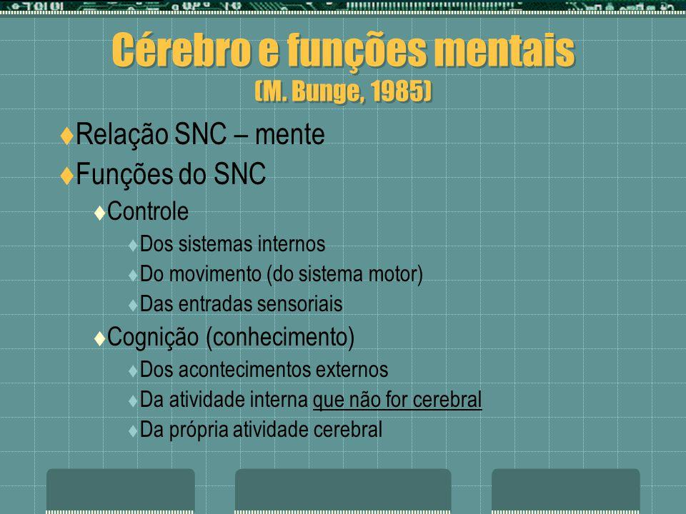Cérebro e funções mentais (M. Bunge, 1985)