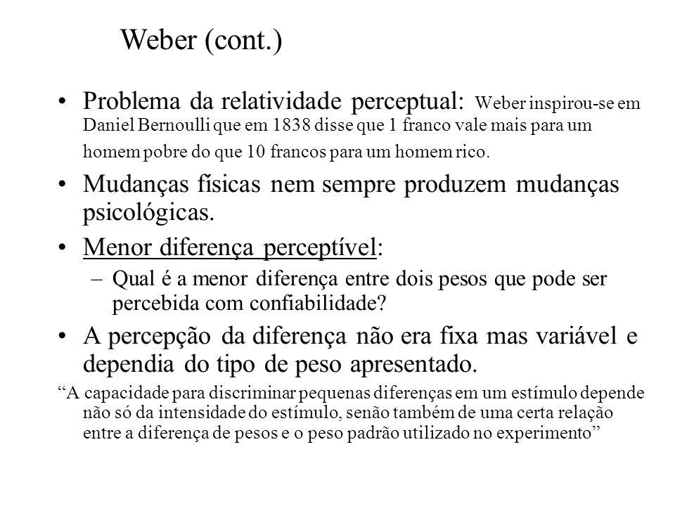 Weber (cont.)