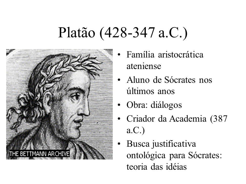 Platão (428-347 a.C.) Família aristocrática ateniense