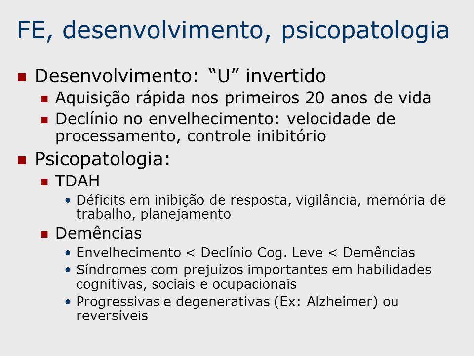 FE, desenvolvimento, psicopatologia