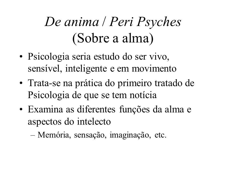 De anima / Peri Psyches (Sobre a alma)