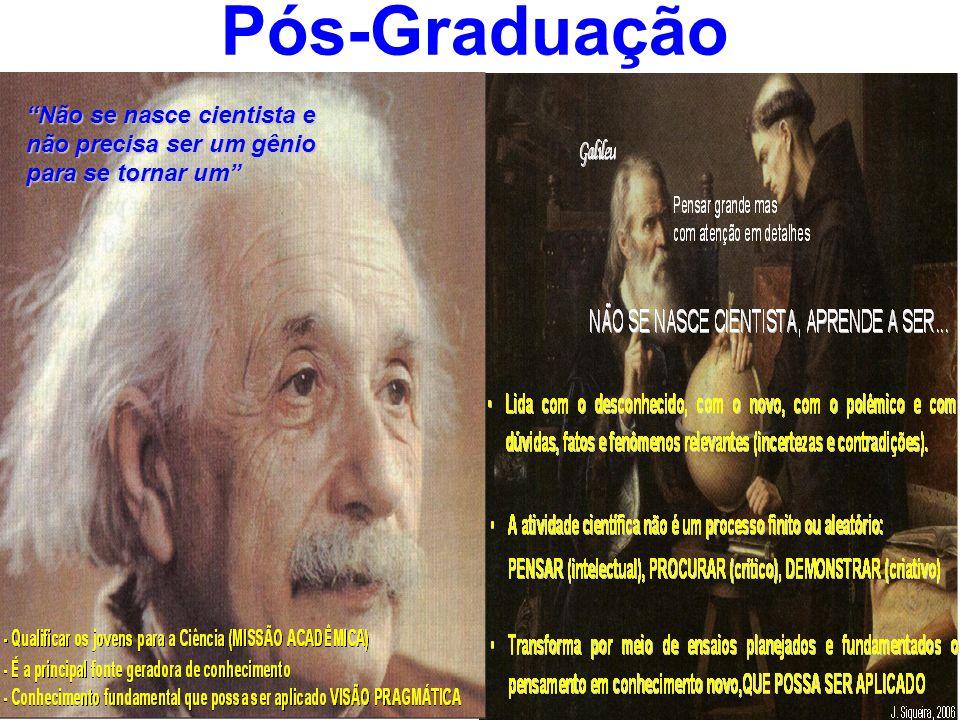 Pós-Graduação Não se nasce cientista e não precisa ser um gênio para se tornar um 14