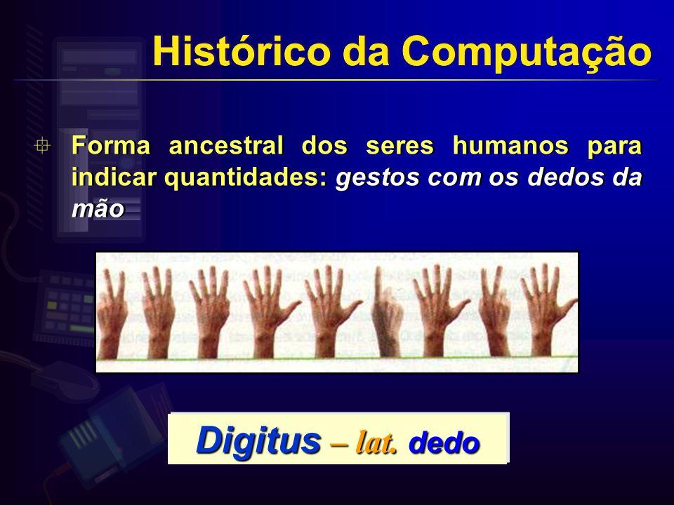 Histórico da Computação Histórico da Computação