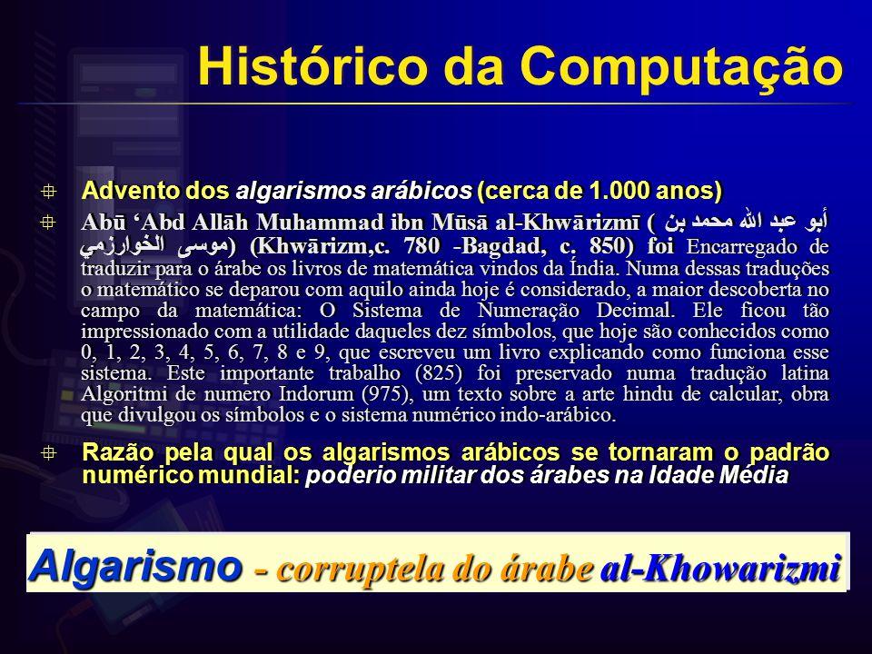 Algarismo - corruptela do árabe al-Khowarizmi