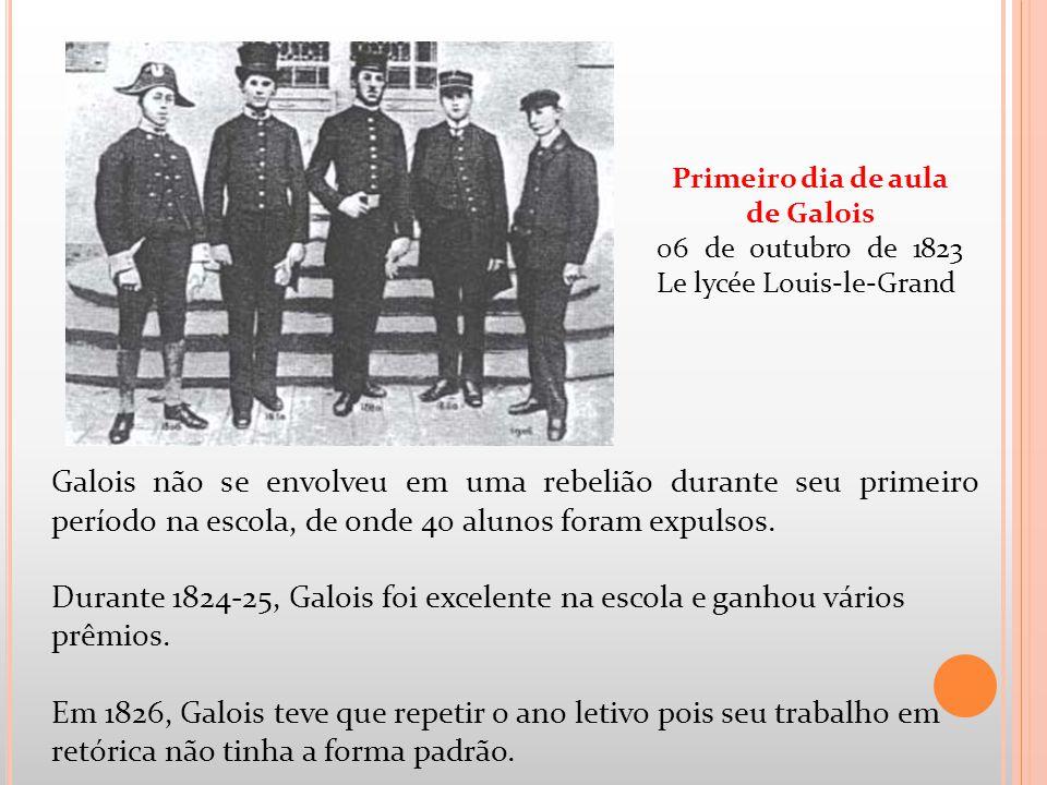 Primeiro dia de aula de Galois