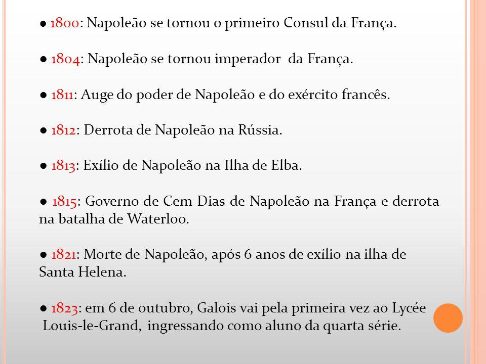 ● 1804: Napoleão se tornou imperador da França.