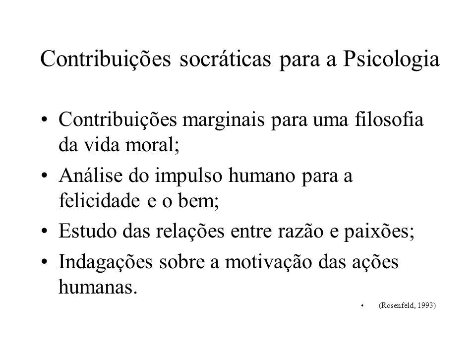 Contribuições socráticas para a Psicologia