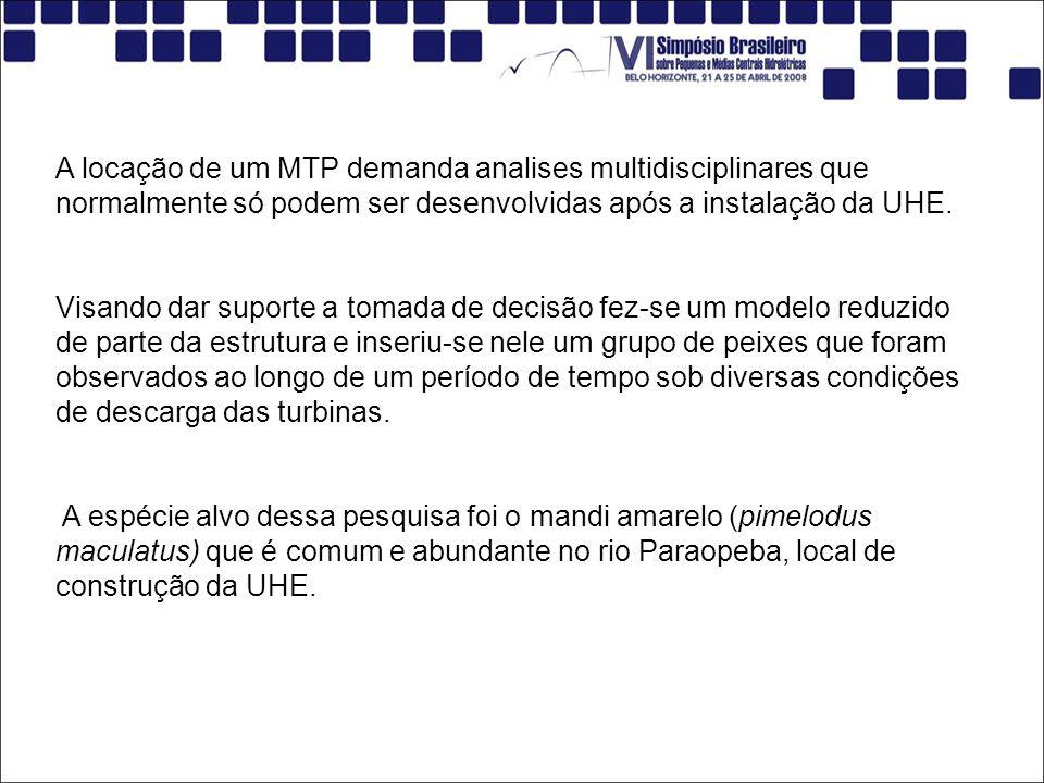 A locação de um MTP demanda analises multidisciplinares que normalmente só podem ser desenvolvidas após a instalação da UHE.