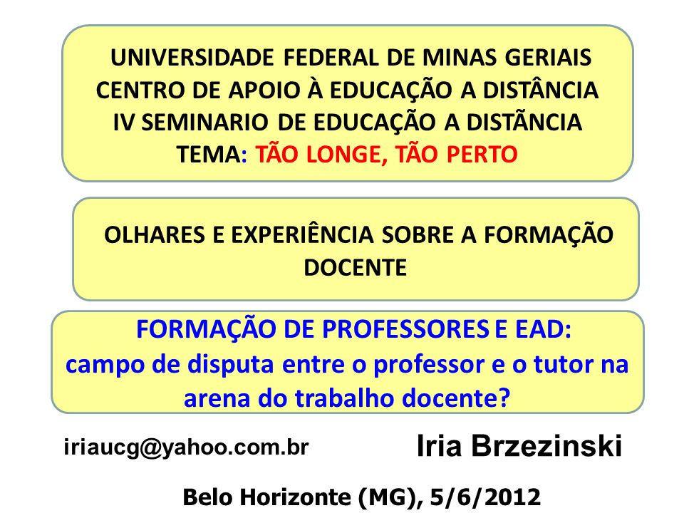 UNIVERSIDADE FEDERAL DE MINAS GERIAIS