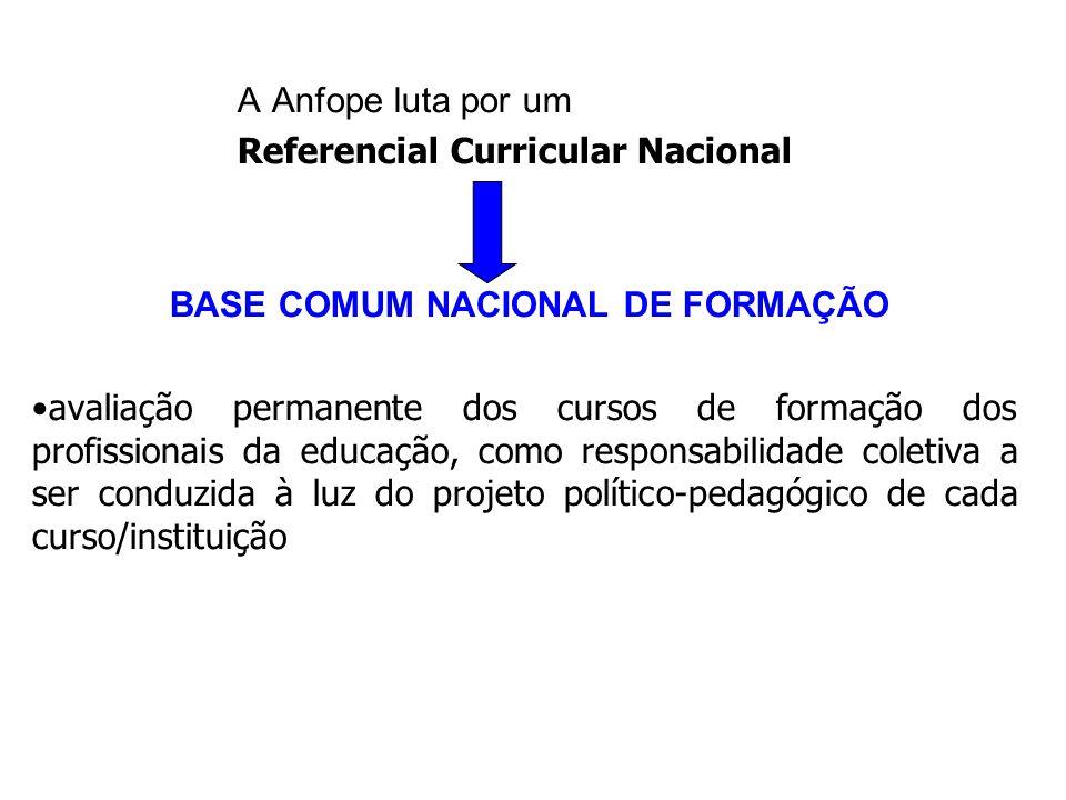 BASE COMUM NACIONAL DE FORMAÇÃO