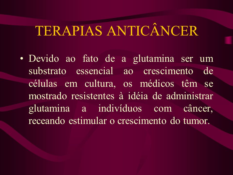 TERAPIAS ANTICÂNCER