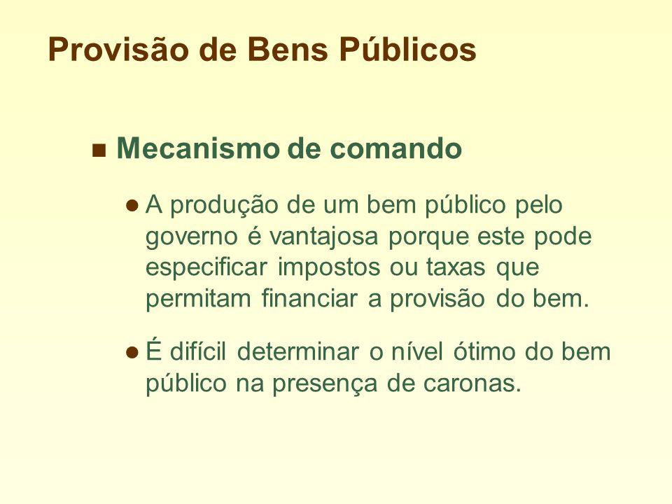 Provisão de Bens Públicos