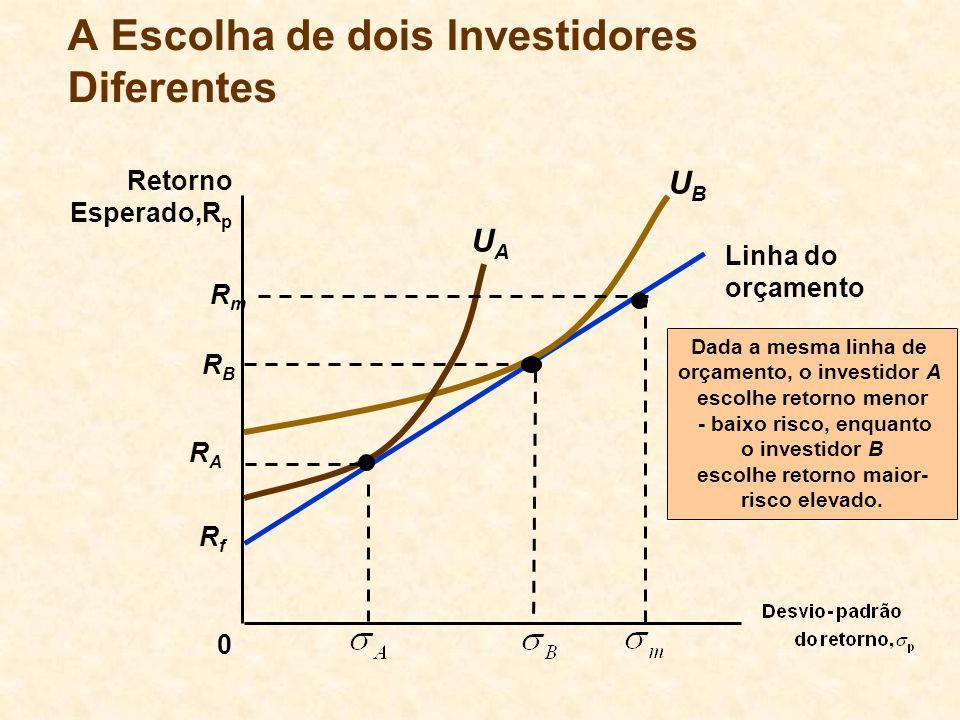 A Escolha de dois Investidores Diferentes
