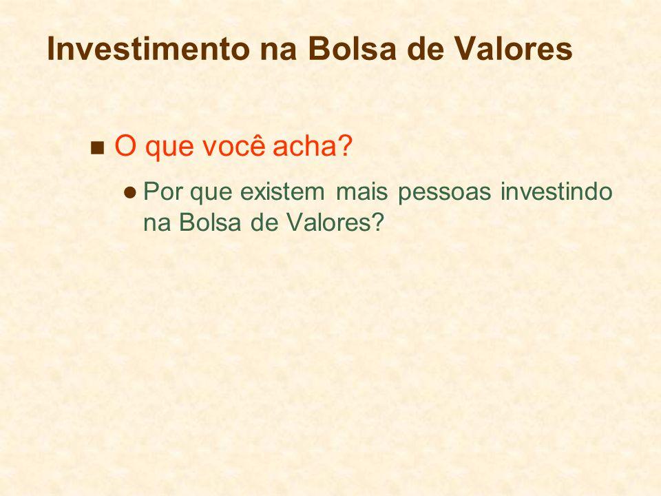 Investimento na Bolsa de Valores