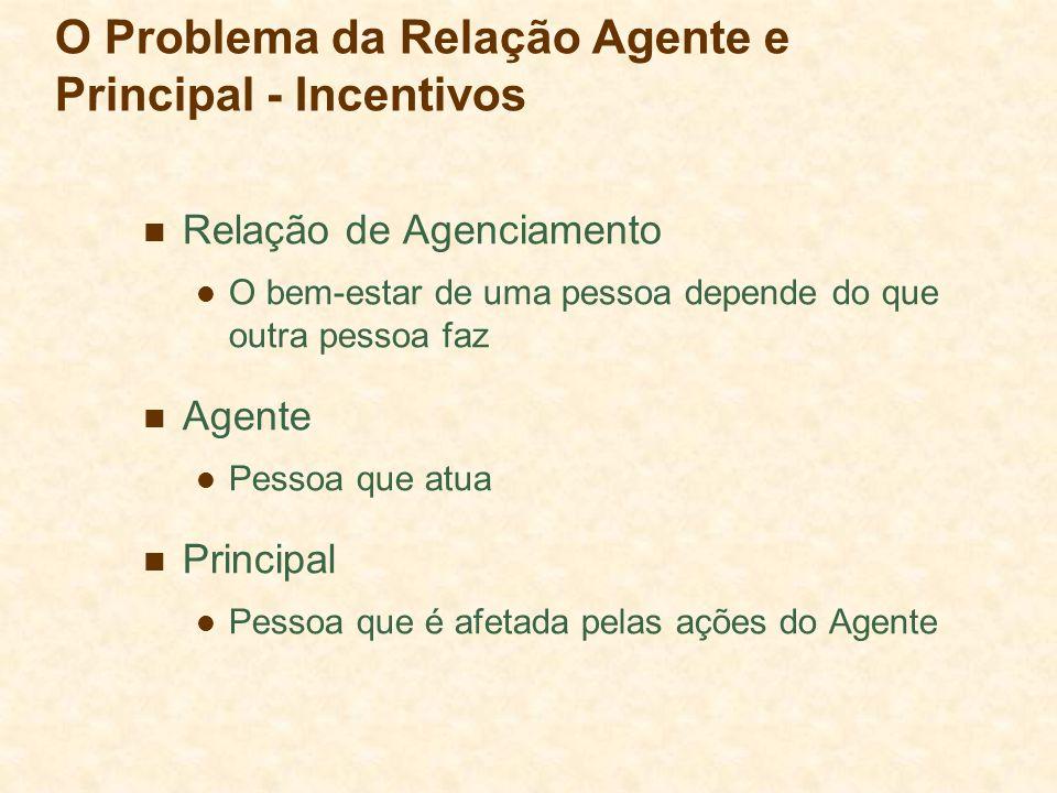 O Problema da Relação Agente e Principal - Incentivos