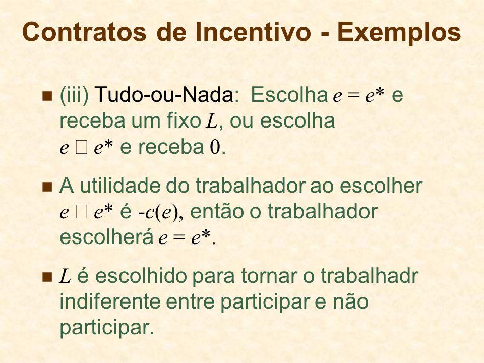 Contratos de Incentivo - Exemplos