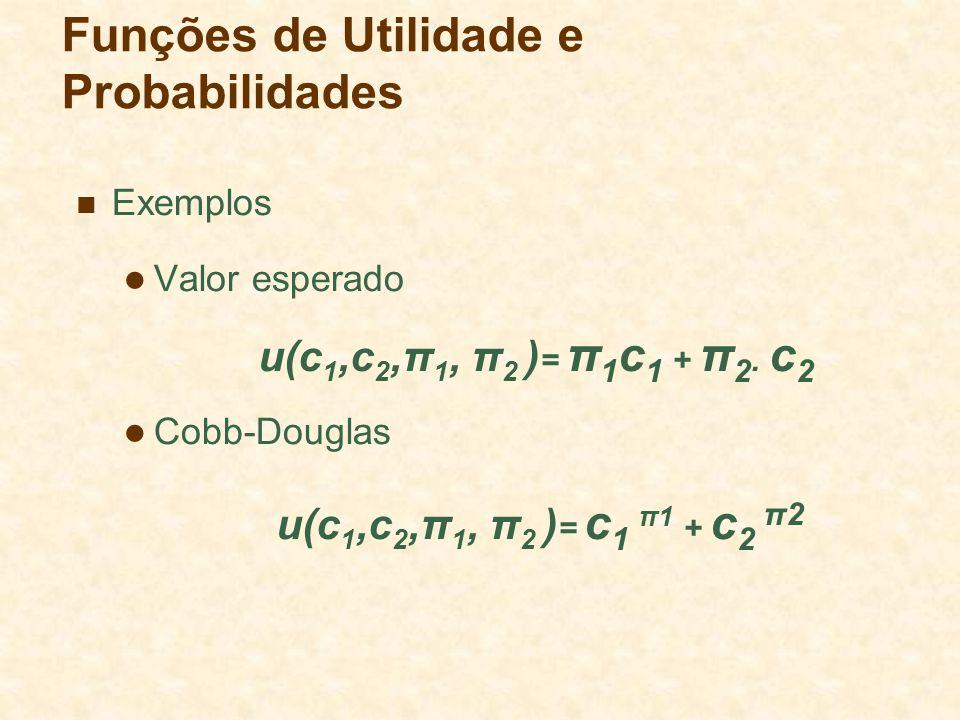 Funções de Utilidade e Probabilidades
