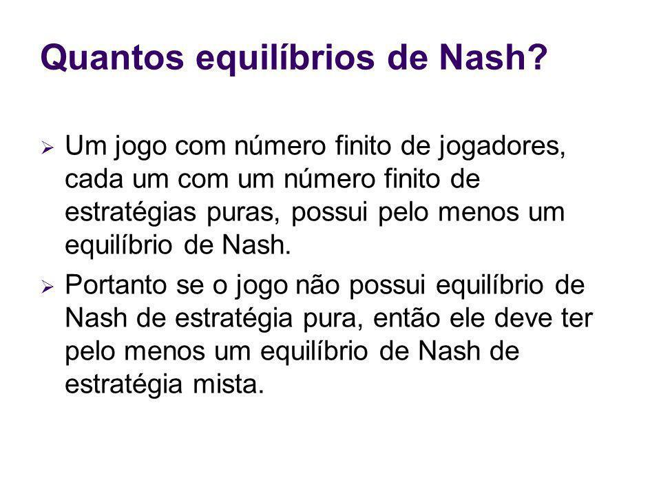 Quantos equilíbrios de Nash