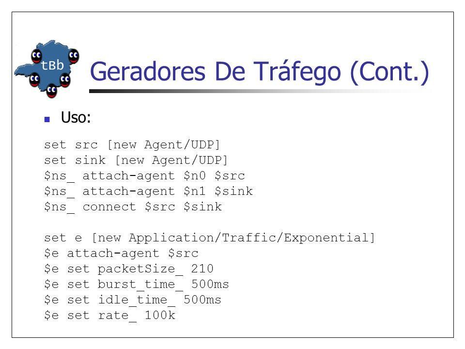 Geradores De Tráfego (Cont.)