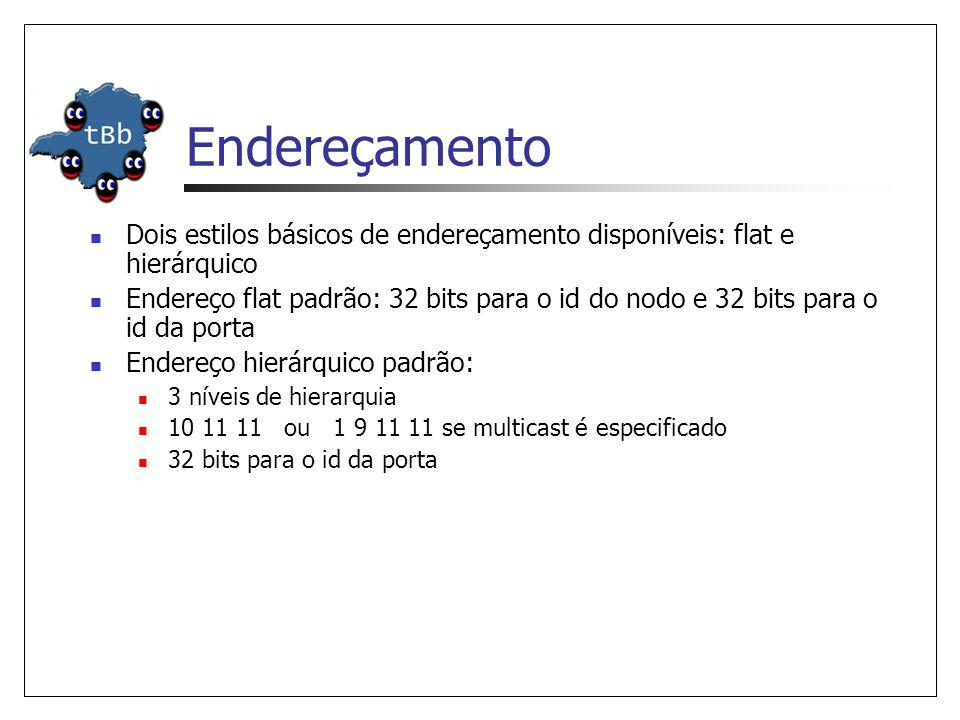 Endereçamento Dois estilos básicos de endereçamento disponíveis: flat e hierárquico.