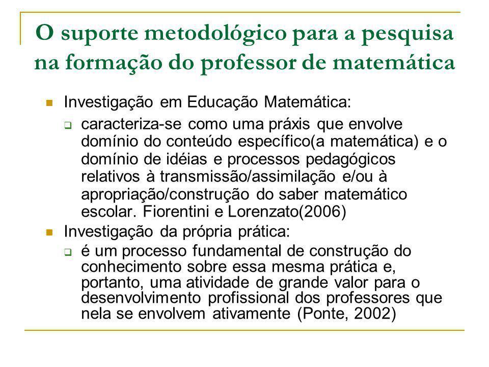 O suporte metodológico para a pesquisa na formação do professor de matemática