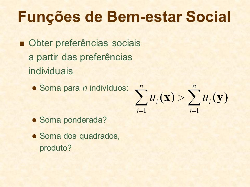 Funções de Bem-estar Social