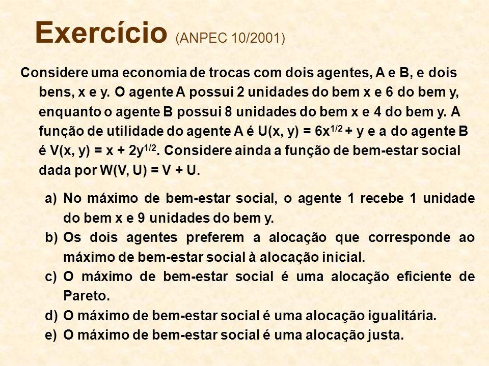 Exercício (ANPEC 10/2001)