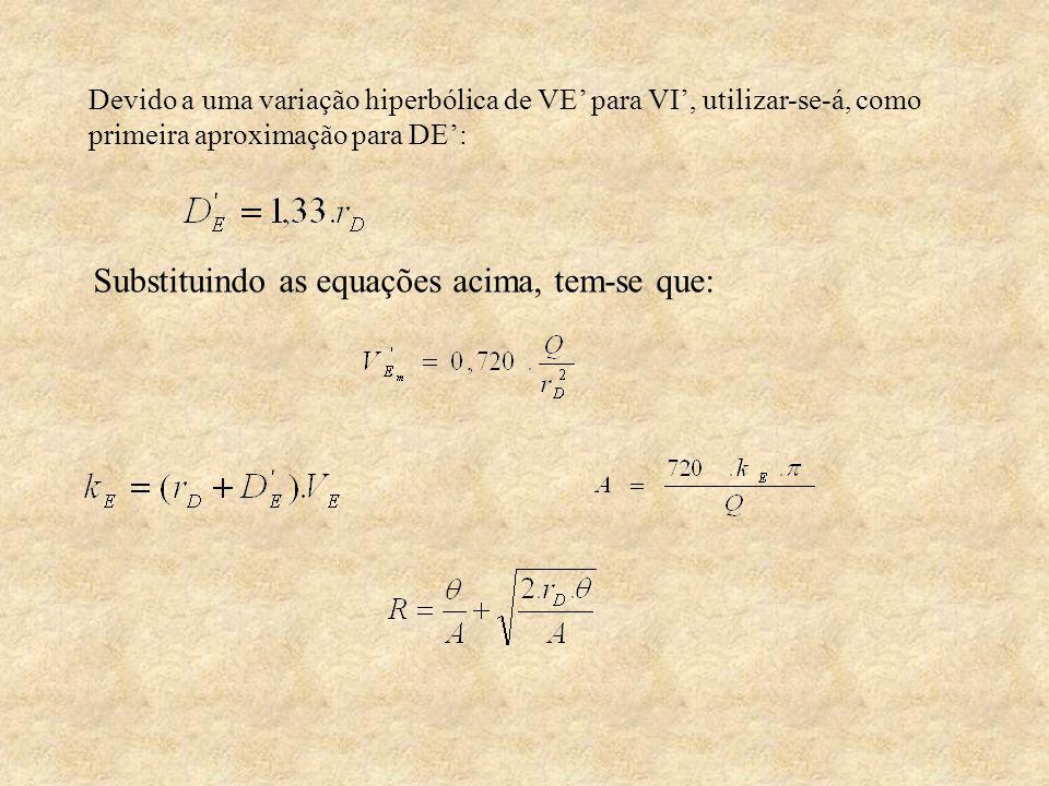 Substituindo as equações acima, tem-se que: