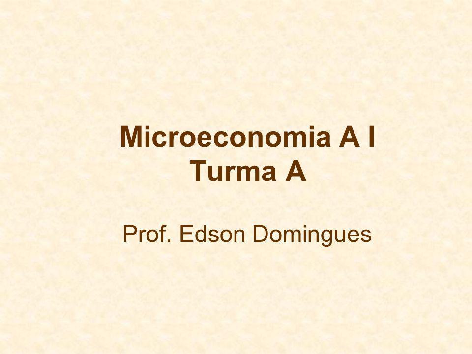 Microeconomia A I Turma A Prof. Edson Domingues