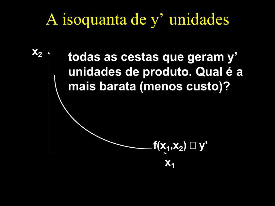 A isoquanta de y' unidades