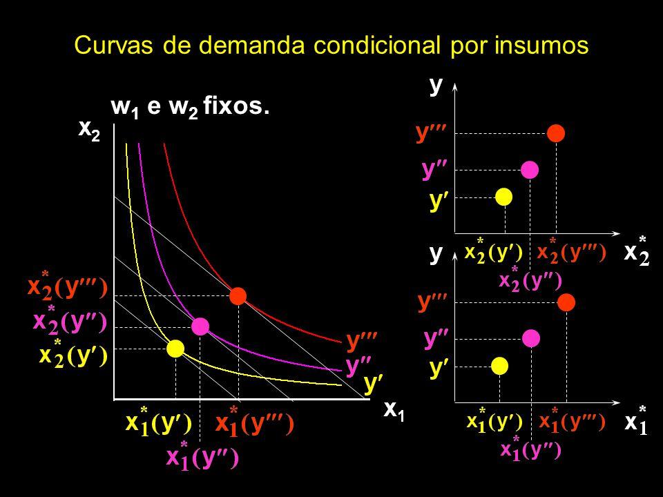 Curvas de demanda condicional por insumos