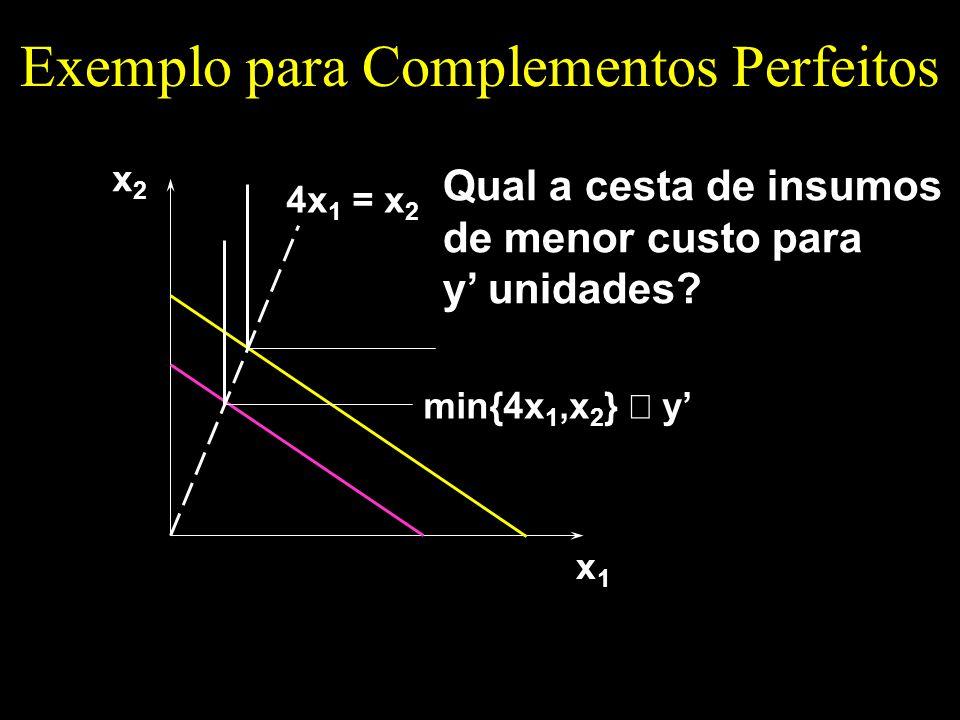 Exemplo para Complementos Perfeitos
