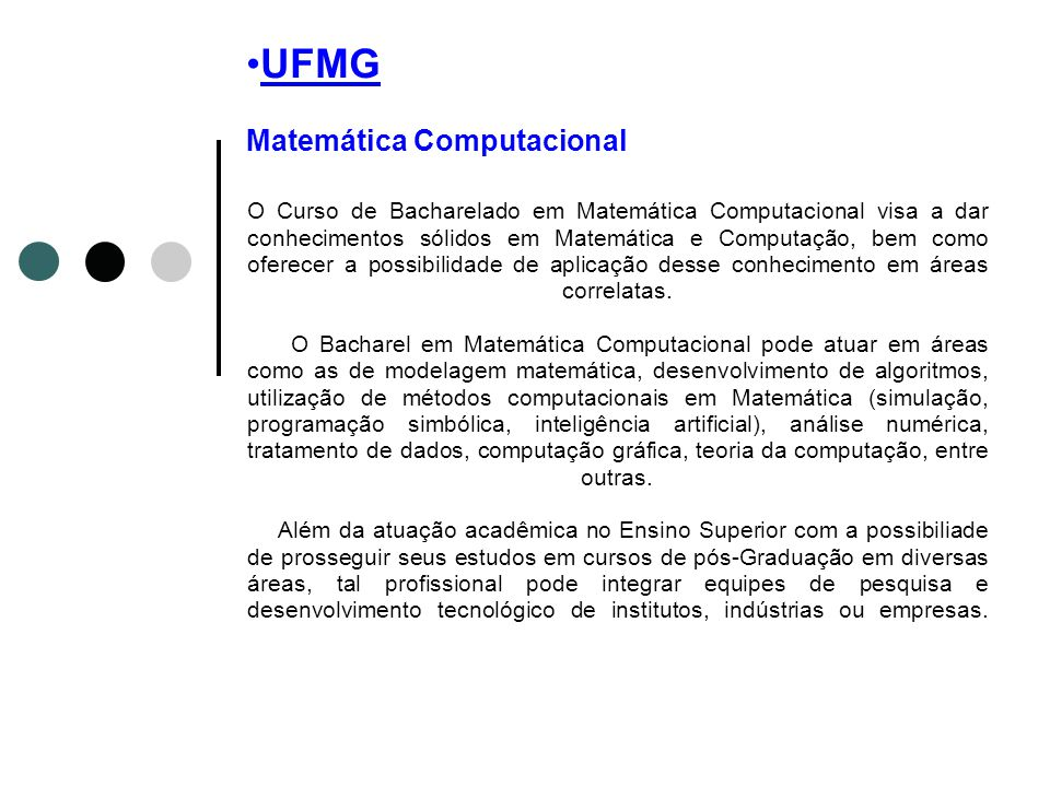 UFMG Matemática Computacional
