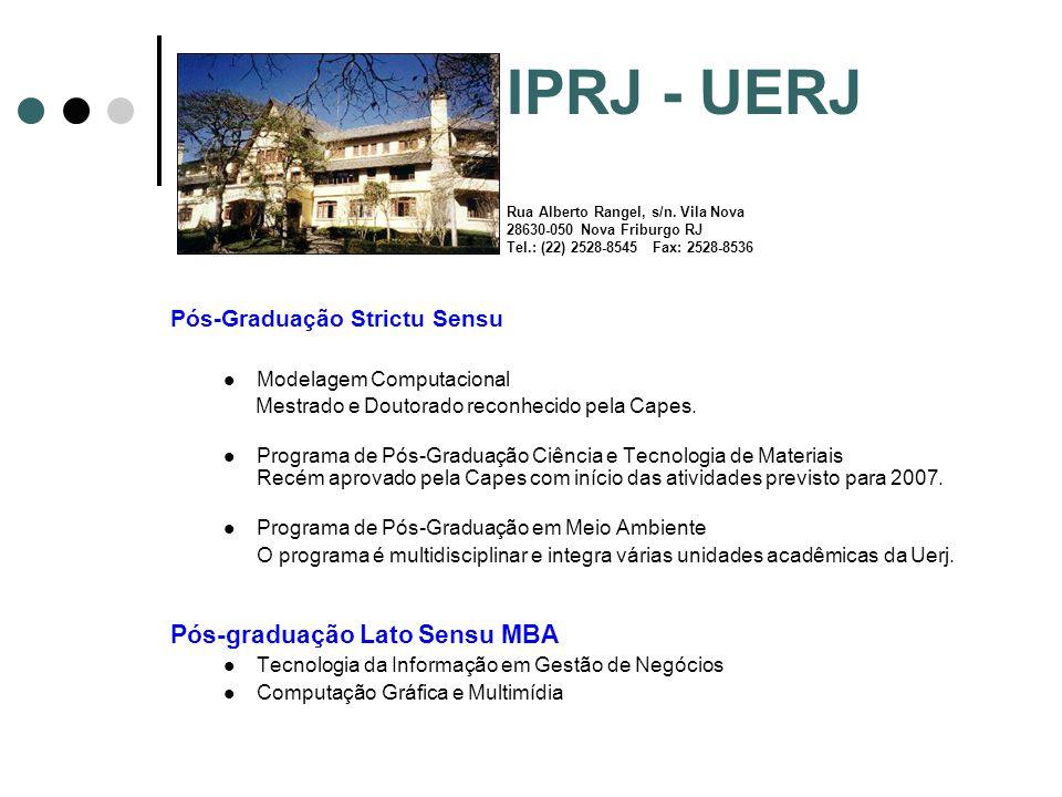 IPRJ - UERJ Rua Alberto Rangel, s/n