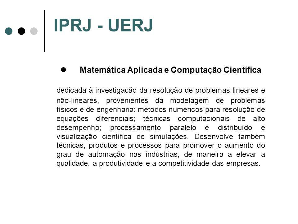 IPRJ - UERJ Matemática Aplicada e Computação Científica.