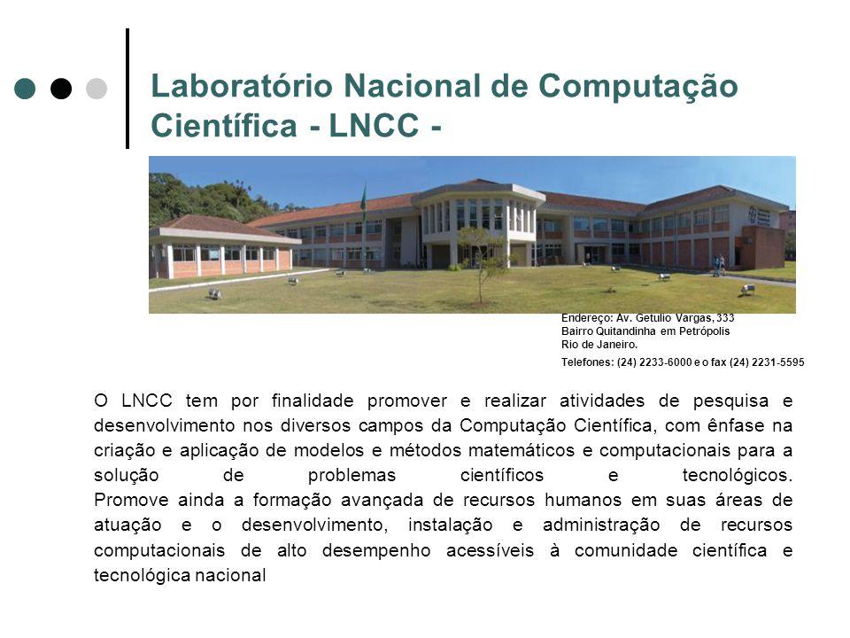 Laboratório Nacional de Computação Científica - LNCC -