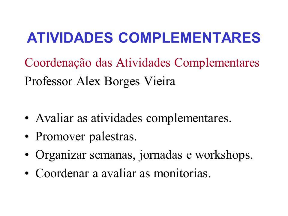 ATIVIDADES COMPLEMENTARES