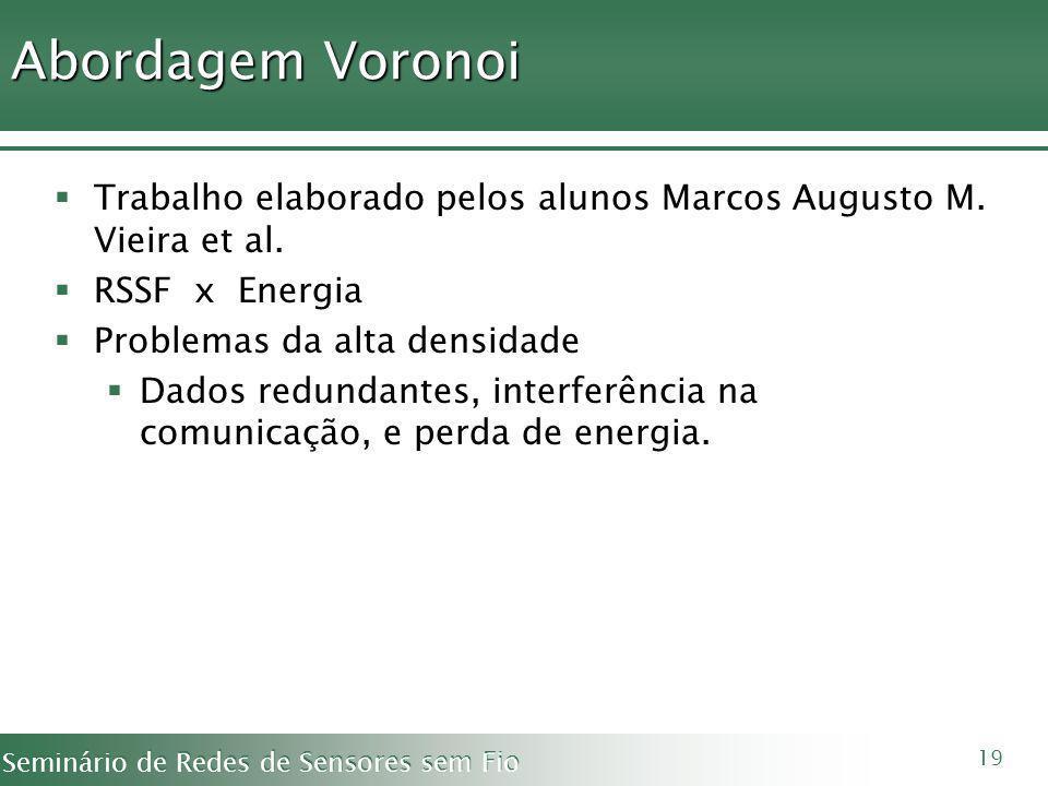 Abordagem Voronoi Trabalho elaborado pelos alunos Marcos Augusto M. Vieira et al. RSSF x Energia.