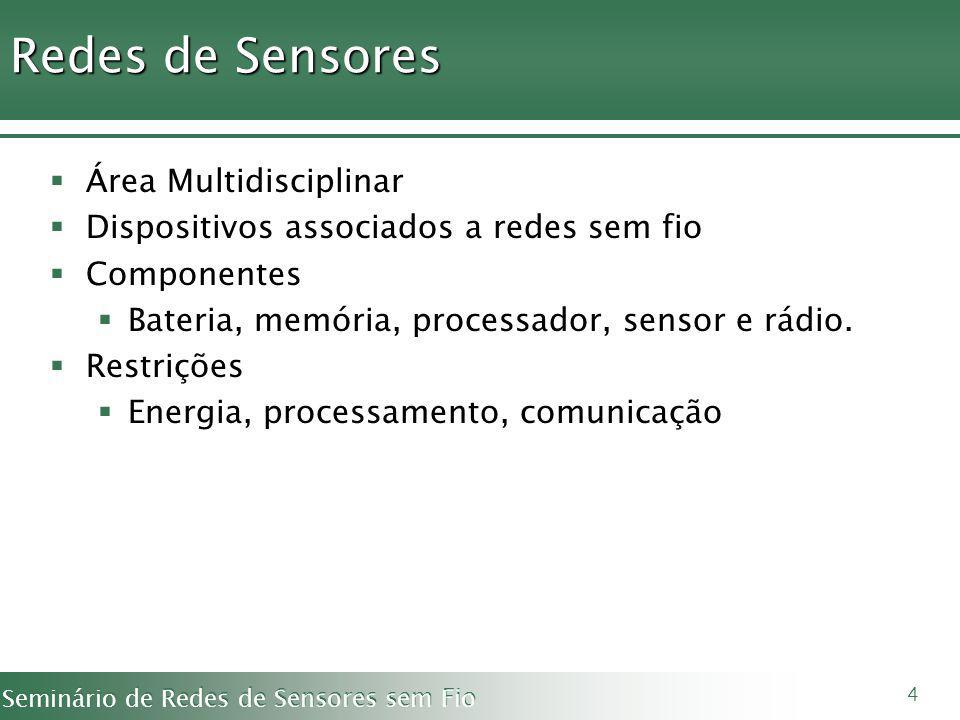 Redes de Sensores Área Multidisciplinar