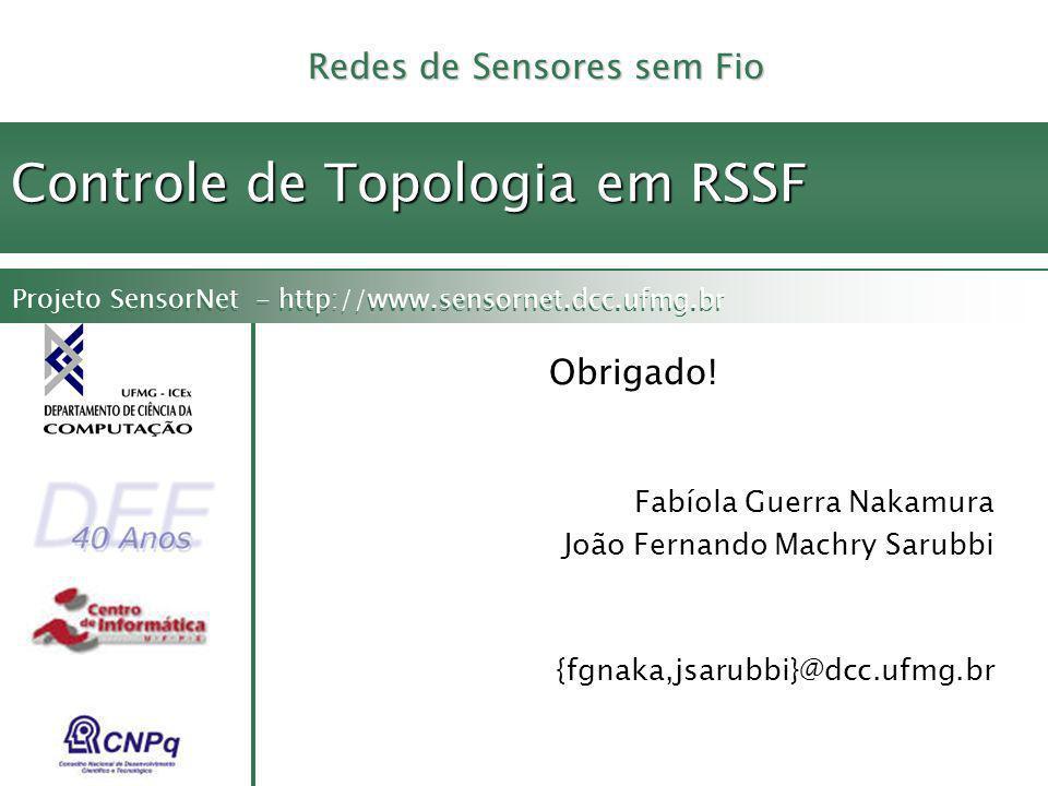 Controle de Topologia em RSSF