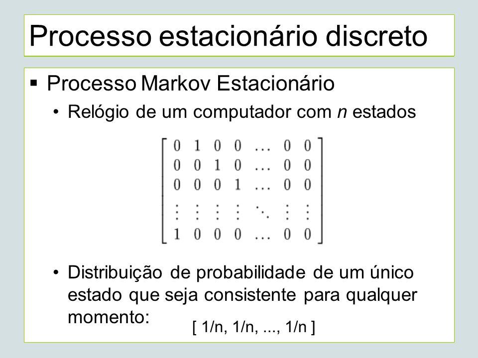 Processo estacionário discreto