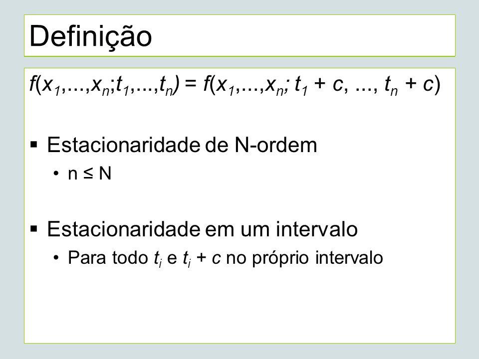 Definição f(x1,...,xn;t1,...,tn) = f(x1,...,xn; t1 + c, ..., tn + c)