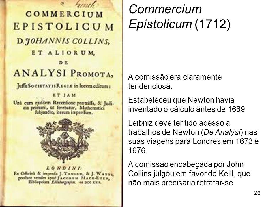 Commercium Epistolicum (1712)