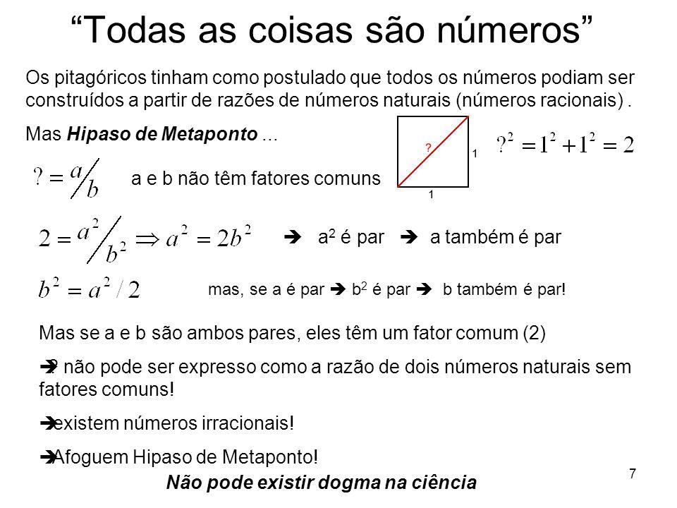 Todas as coisas são números