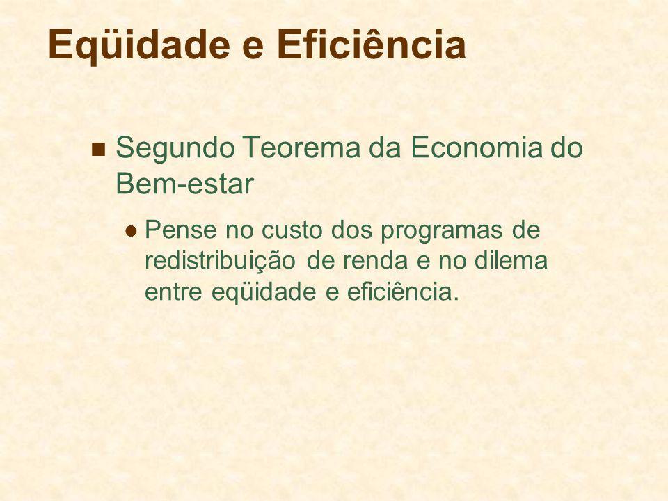 Eqüidade e Eficiência Segundo Teorema da Economia do Bem-estar