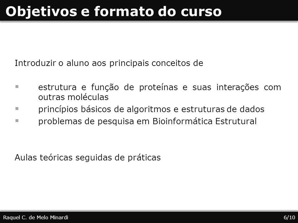 Objetivos e formato do curso