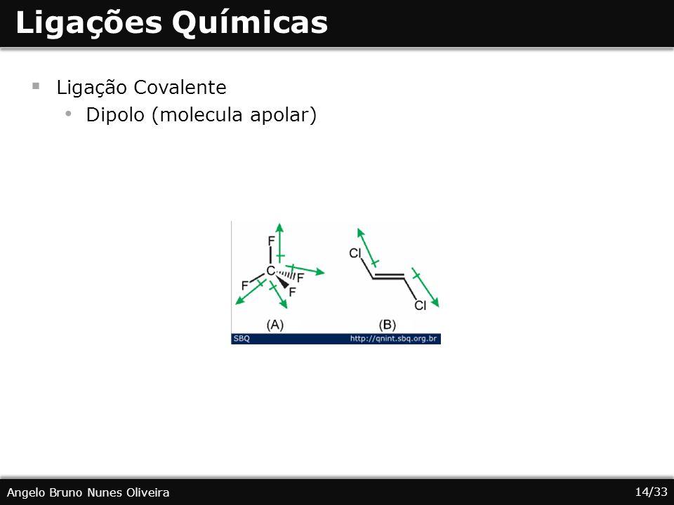 Ligações Químicas Ligação Covalente Dipolo (molecula apolar)