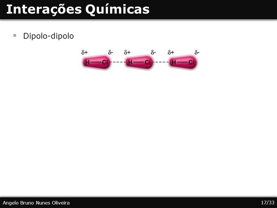 Interações Químicas Dipolo-dipolo