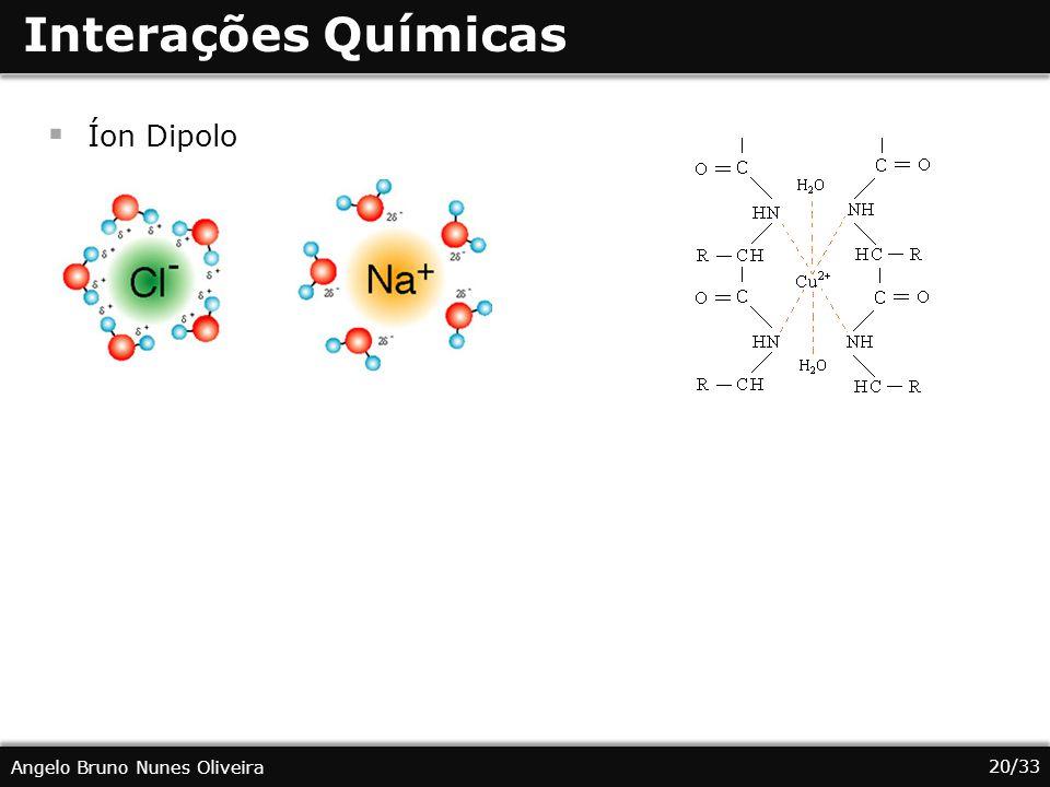 Interações Químicas Íon Dipolo